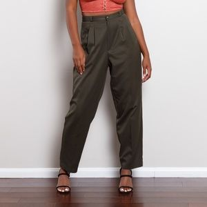 Vintage Forest Green Trousers
